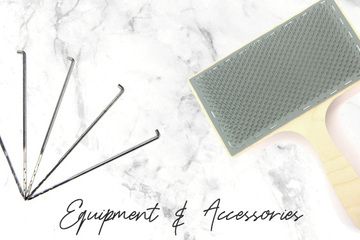 Equipment and Accessories for spinning, felting, weaving, knitting, crochet and more
